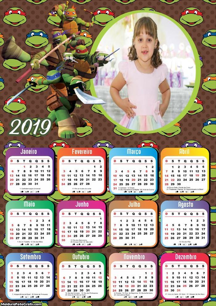 Calendário Tartarugas Ninja 2019