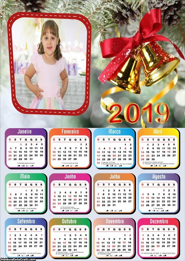 Calendário Sinos de Natal 2019