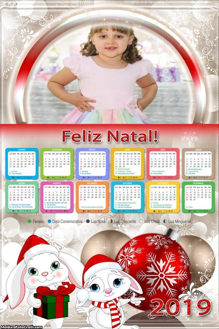 Calendário Coelhinhos Natalino 2019