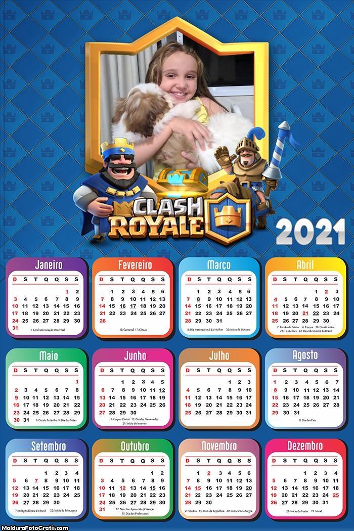 Calendário Clash Royale 2021