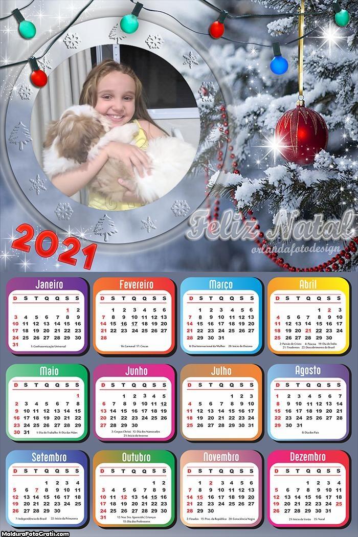 Calendário Luzes de Natal 2021