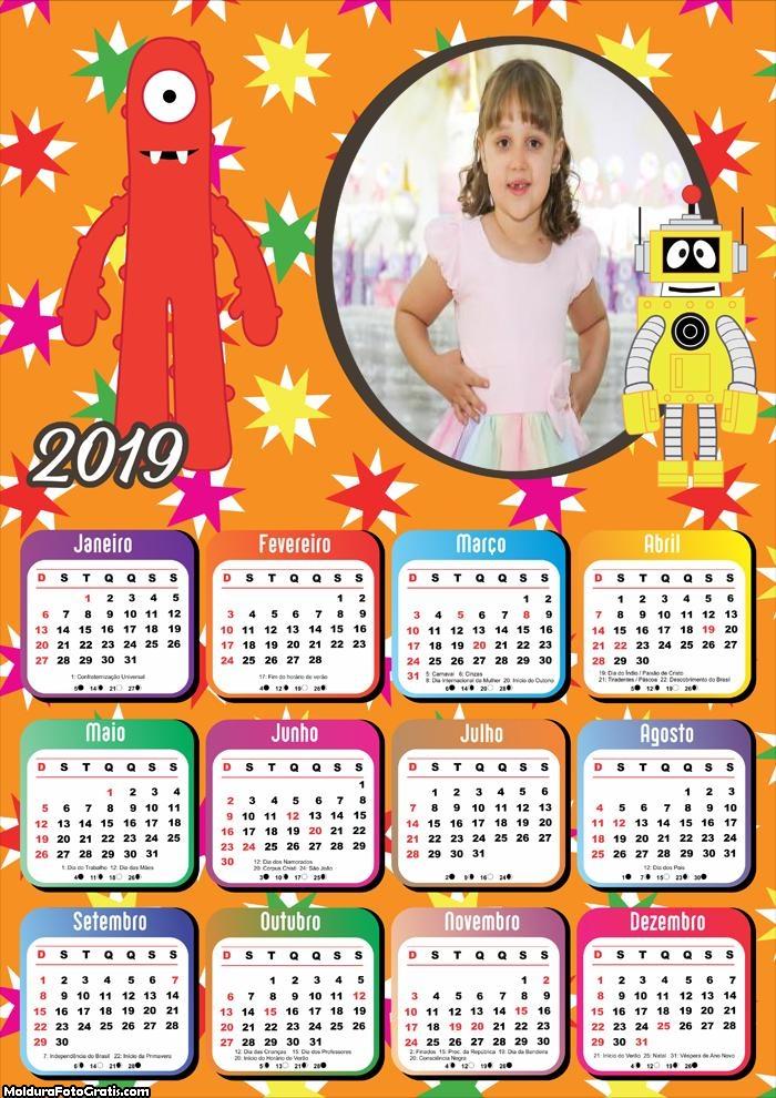 Calendário Yo Gabba Gabba 2019