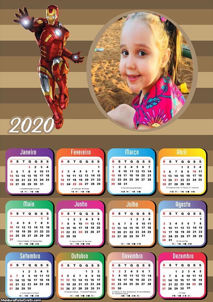 Calendário Homem de Ferro 2020