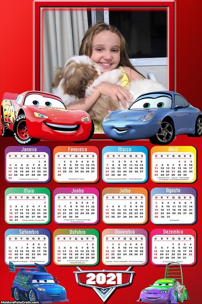 Calendário Carros 2021