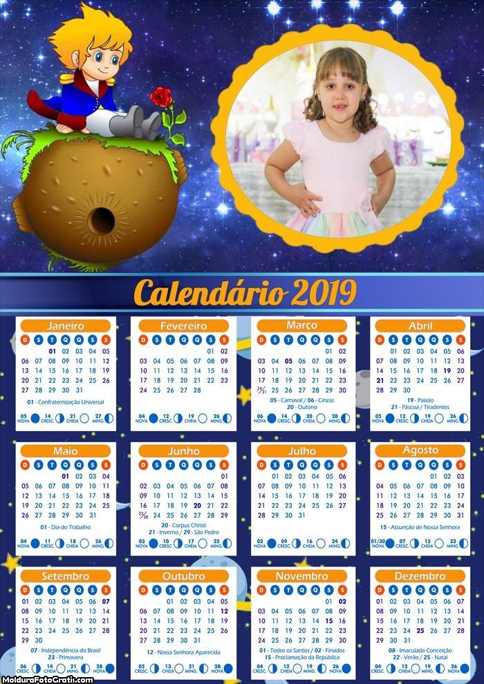 Calendário Pequeno Príncipe 2019