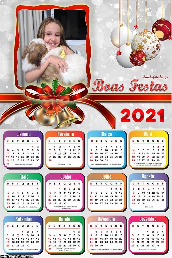 Calendário Boas Festas 2021