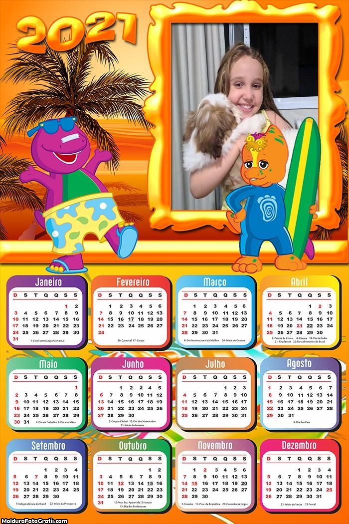 Calendário Barney e Seus Amigos 2021