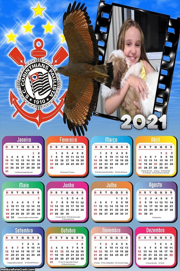 Calendário Gavião Corinthians 2021