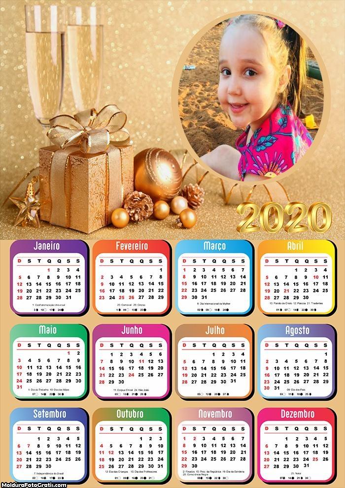 Calendário Boas Festas Natal 2020