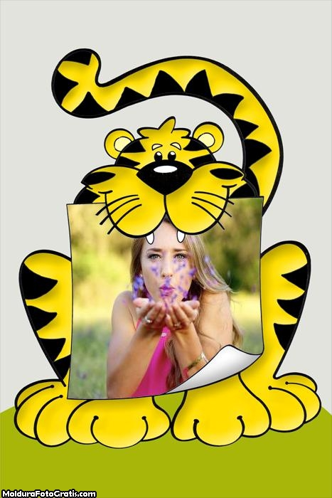 Tigre Desenho Moldura