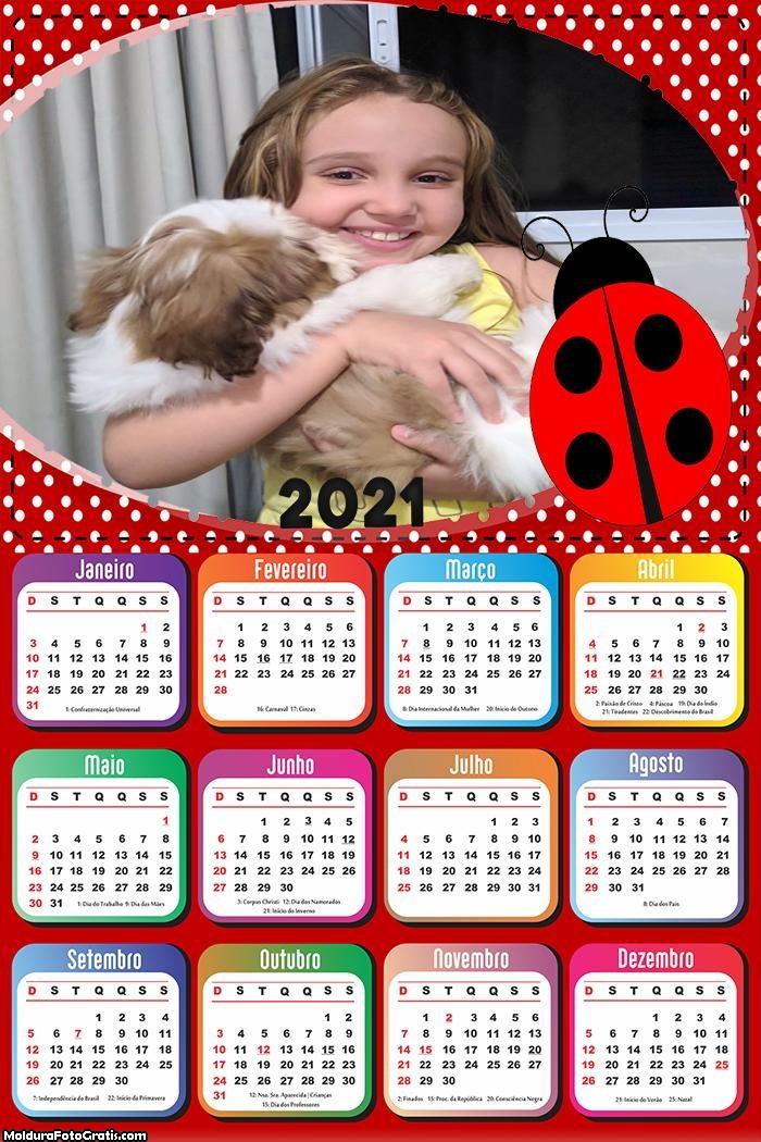 Calendário Joaninha 2021