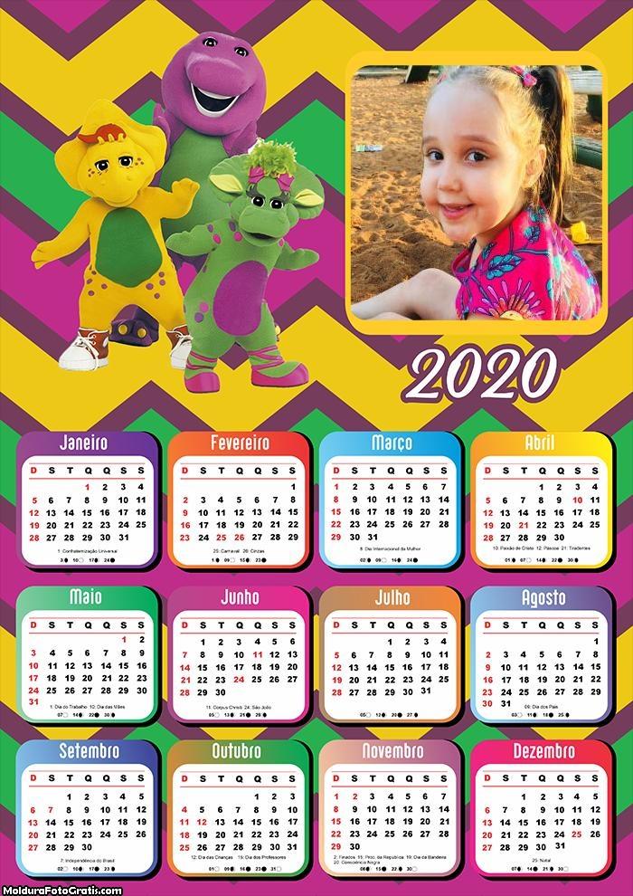 Calendário Barney 2020