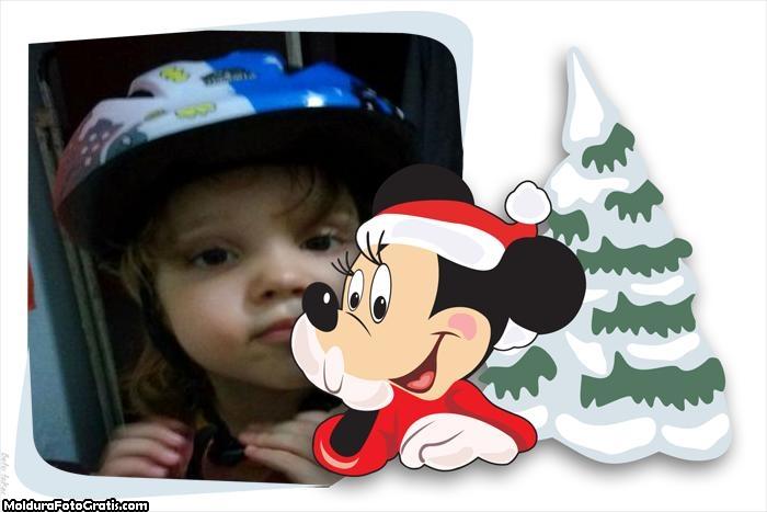 FotoMoldura Mickey Noel Natal