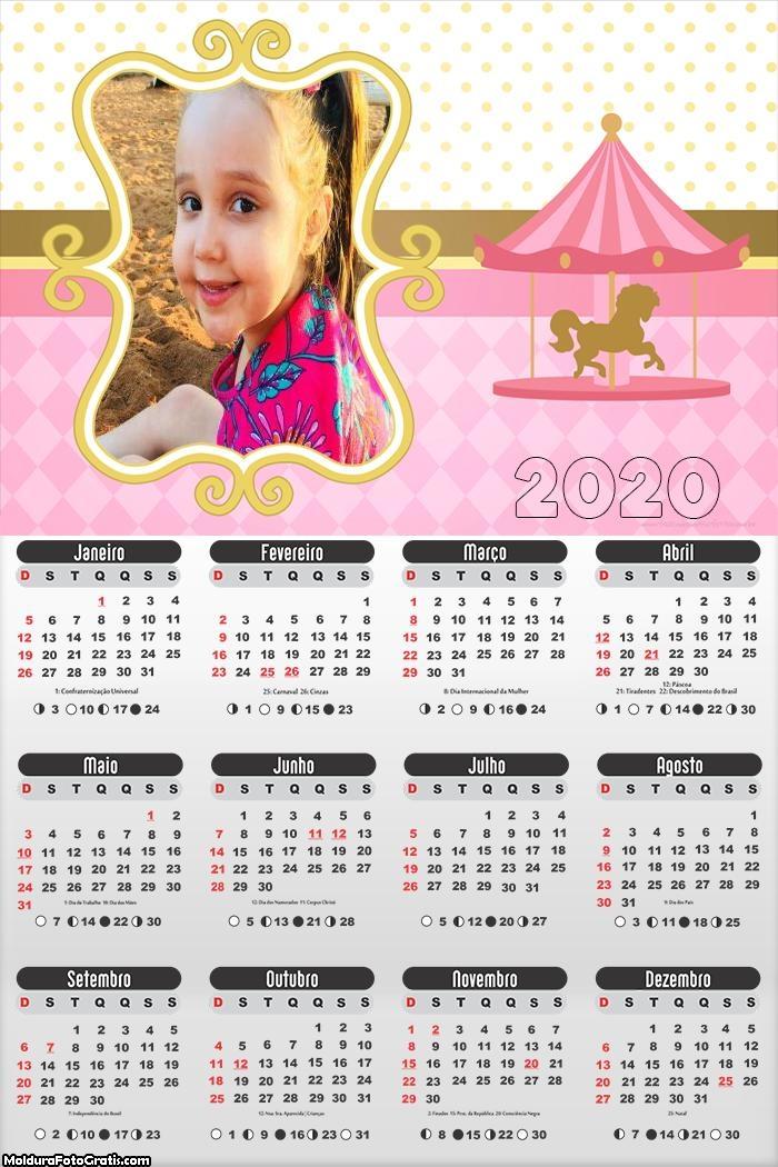 Calendário Carrossel Meninas 2020