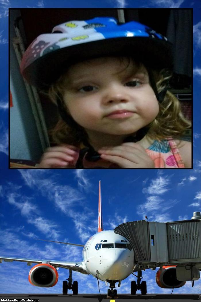 Moldura Avião Embarcando
