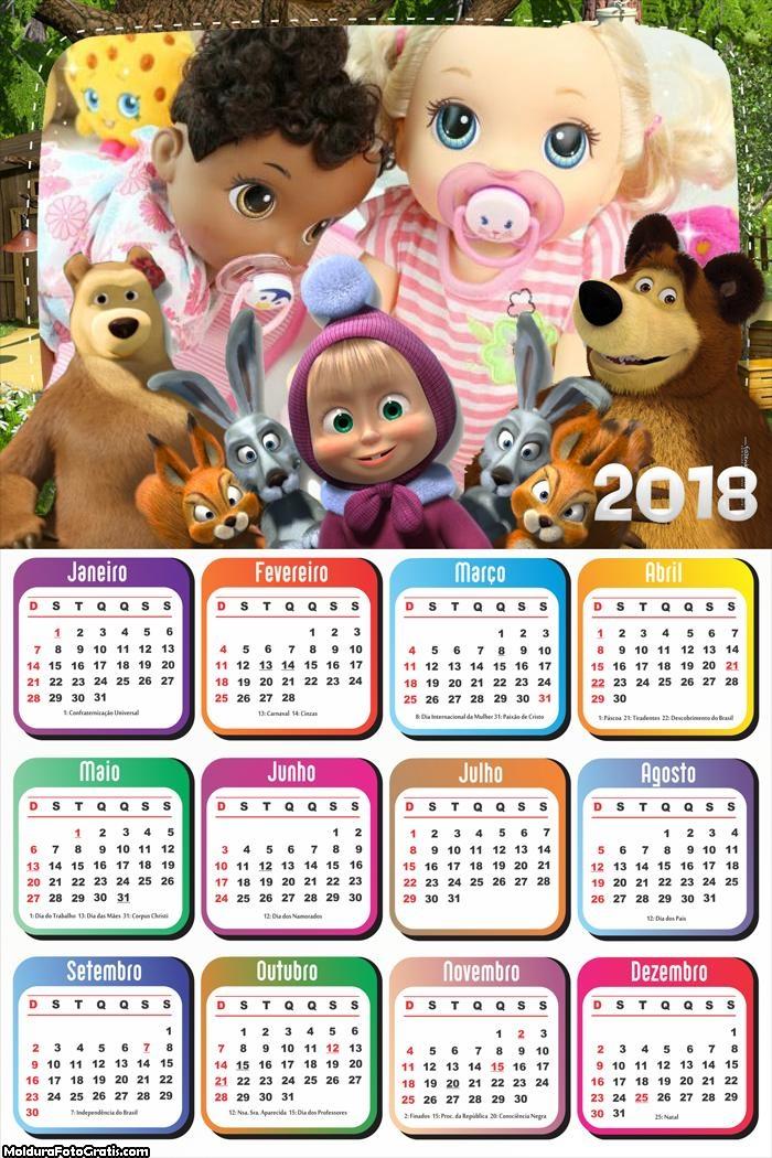 Calendário Mash e o Urso 2018