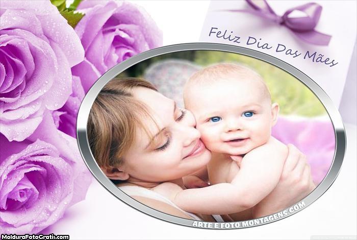 Flores Feliz Dia das Mães Foto Montagem