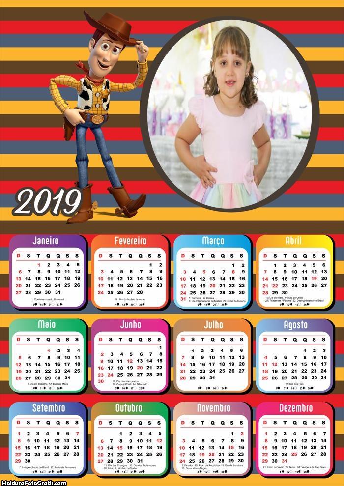Calendário Woody e Jessie 2019