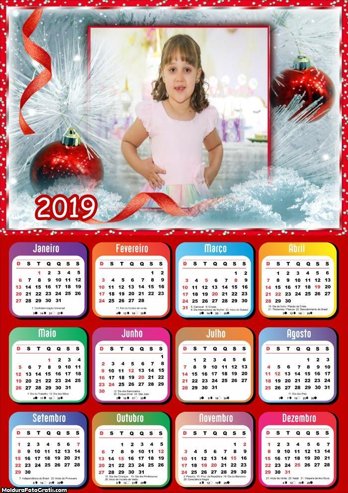 Calendário Árvore Branca de Natal 2019