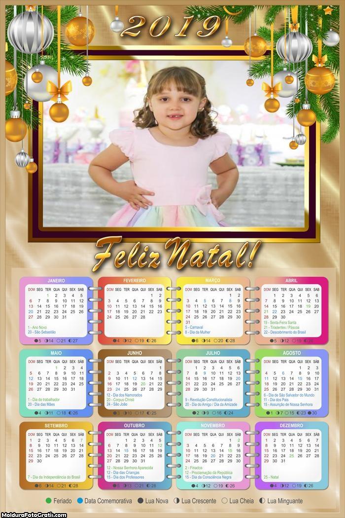 Calendário Enfeite Simples de Natal 2019