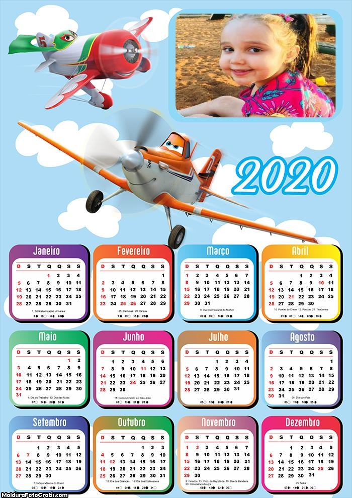 Calendário Aviões 2020