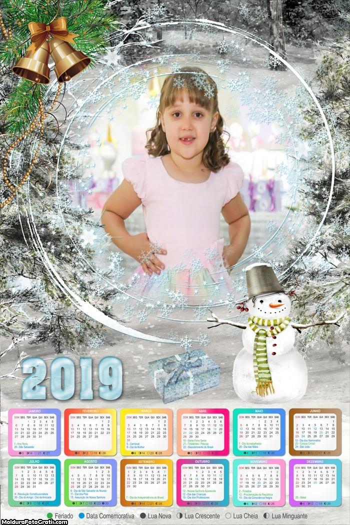 Calendário Neve de Natal 2019