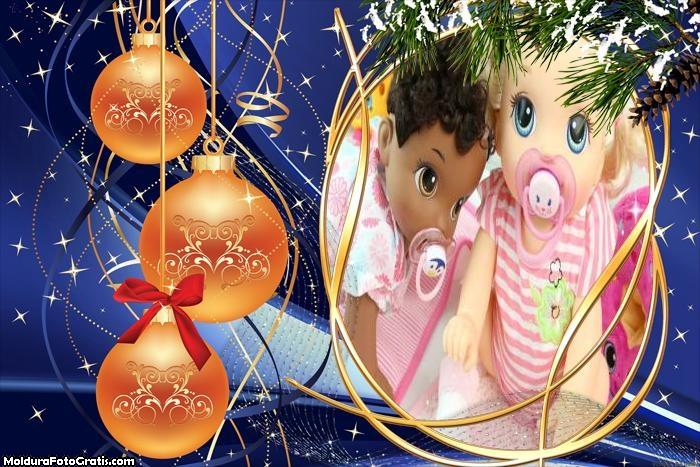 Bolas Salmão de Natal FotoMoldura