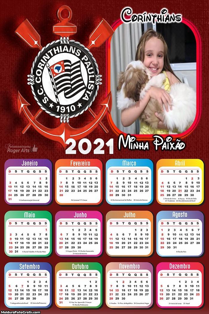 Calendário Corinthians Minha Paixão 2021
