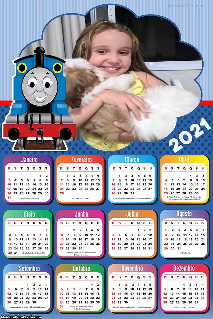 Calendário Thomas Trenzinho 2021