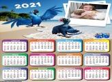 Calendário Arara Azul 2021