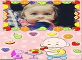 Bebê Frutas Moldura