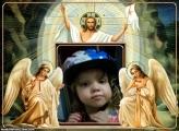 FotoMoldura Jesus Cristo e Seus Anjos