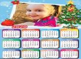 Calendário Desenho de Árvore de Natal 2020