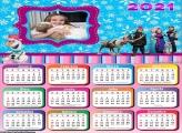 Calendário Personagens Frozen 2021