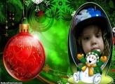 FotoMoldura Boneco de Neve Natal