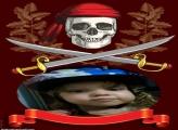 Foto Montagem Online Caveira Pirata Halloween