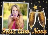 Feliz Ano Novo Mensagem Moldura