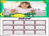 Calendário Jacaré 2019 Moldura