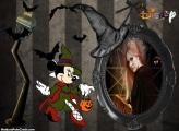 Colagem de Foto Halloween da Minnie
