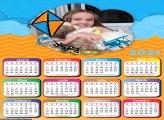 Calendário Pipa Laranja e Azul 2021
