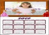 Calendário Princesas Fashion 2019 Moldura