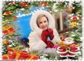 Brinquedos Pedidos no Natal Moldura