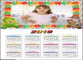 Calendário Pelúcia 2019 Moldura