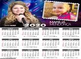 Calendário Marília Mendonça 2020