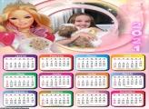 Calendário Boneca Barbie 2021
