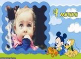 Mickey Baby 4 Meses Moldura