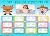 Calendário Rena e Boneco de Neve 2019
