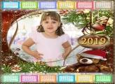 Calendário Urso Noel 2019
