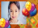 Balões de Aniversário Moldura