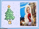 Árvore de Natal Pequena Moldura